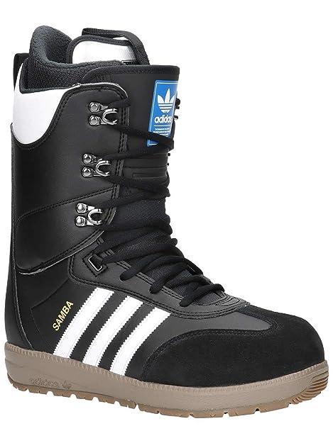 60dce0d1 adidas - Botas de Cuero para Hombre Blanco Negro: Amazon.es: Zapatos y  complementos
