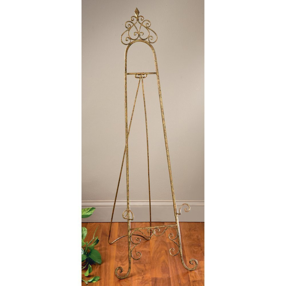 StealStreet 59404 53.69 Gold Color Metal Floor Easel Tripar SS-TRI-59404