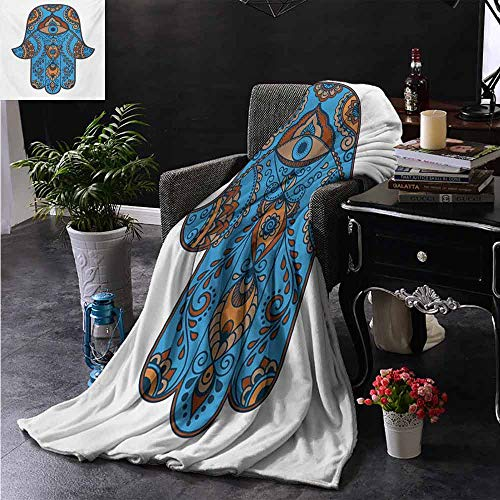 """ZSUO Warm Baby Wrapped Crib Blanket Sign of Protection with Curly Paisley Pattern Vintage Amulet All Seeing Eye Camping Blanket - Throwing a Blanket 35""""x60"""" Inch"""
