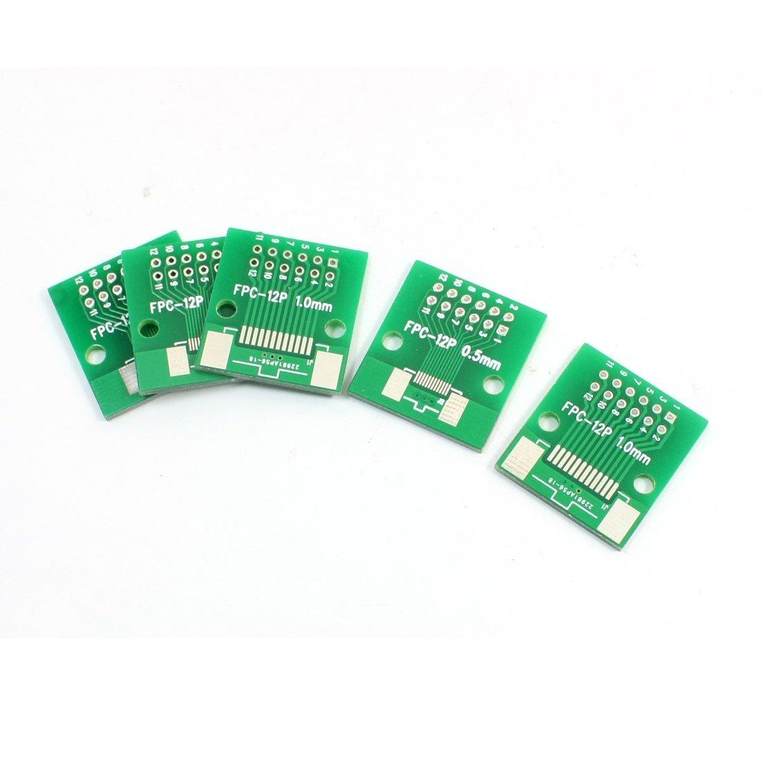 sourcingmap® 5 pcs SMD12 FPC 0.5mm à 1mm Plaque adaptateur PCB IC Carte convertisseur sourcing map