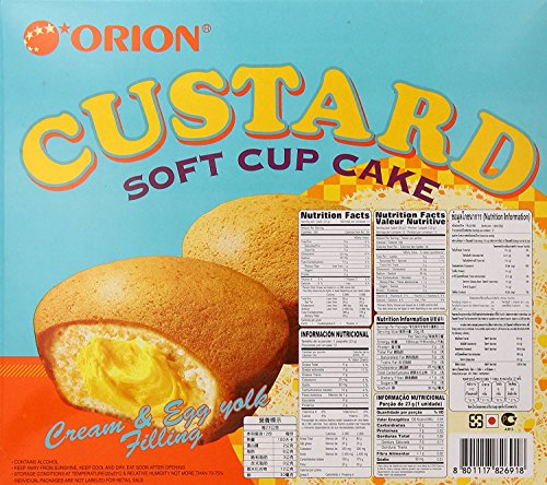 Orion Custard Filled Fruit Cake Soft Cupcake Dessert (12 Pieces) by Orion (Image #2)'