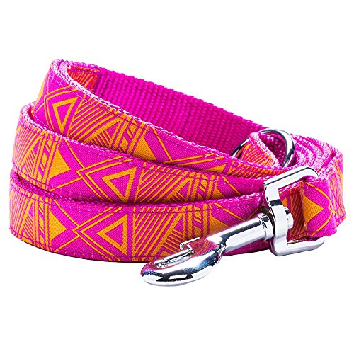 "Blueberry Pet 4 Patterns Durable Mysterious African Geographical Pattern Dog Leash 4 ft x 1"" in Light Orchid, Large, Leashes for Dogs"