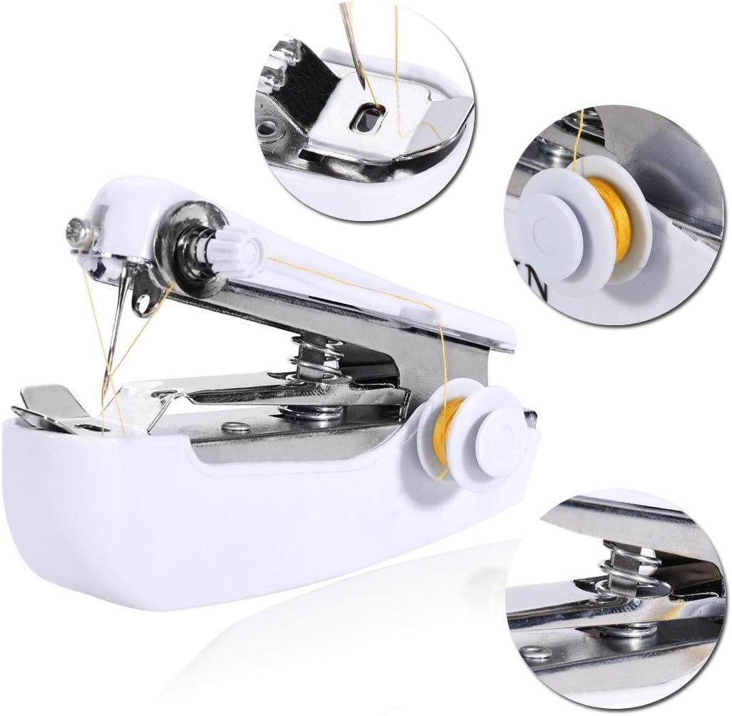 Murieo - Mini máquina de coser portátil, manual e inalámbrica. Herramienta profesional portátil para manualidades ...