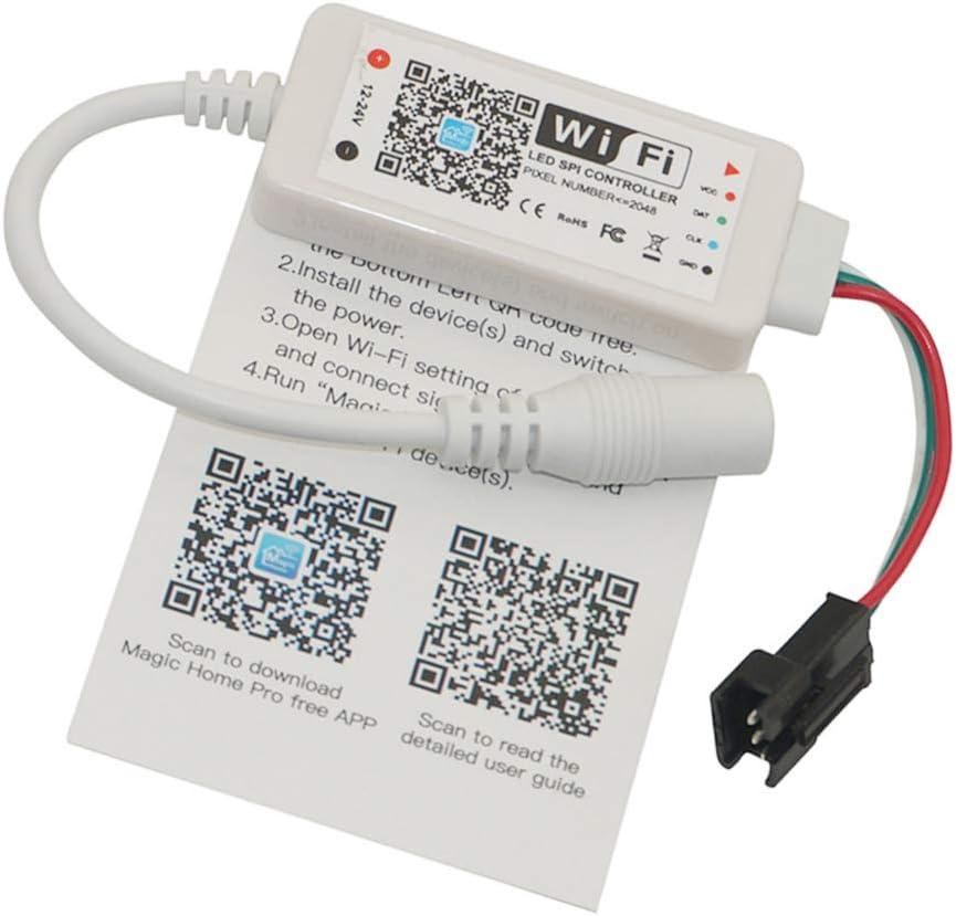 Hotaluyt Inicio DC 5V 12V 24V Bluetooth Wireless WiFi Controlador RGB/Controlador LED de RF IR RGBW, Pixel WiFi 3 Pines 5V