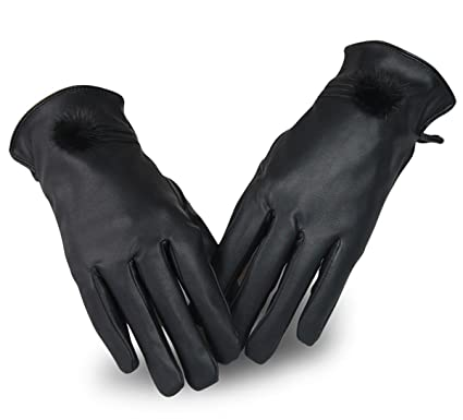 Friendly Touching Screen Genuine Leather Gloves Women Womens Gloves Rabbit Fur Ladies Fur Mittens Winter Gloves Ski Water Proof 100% Original Apparel Accessories