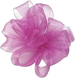 "product image for Offray Berwick LLC 135358 Berwick Simply Sheer Asiana Ribbon - 1-1/2"" W X 100 yd - Shocking Pink Ribbon"