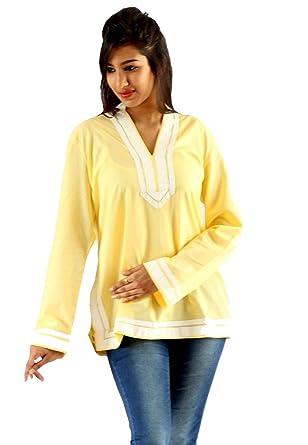 Old Khaki Women'S Lemon Yellow Tops: Amazon in: Clothing