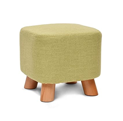 Amazon.com: ZfgG Square Wooden Support Upholstered Footstool ...