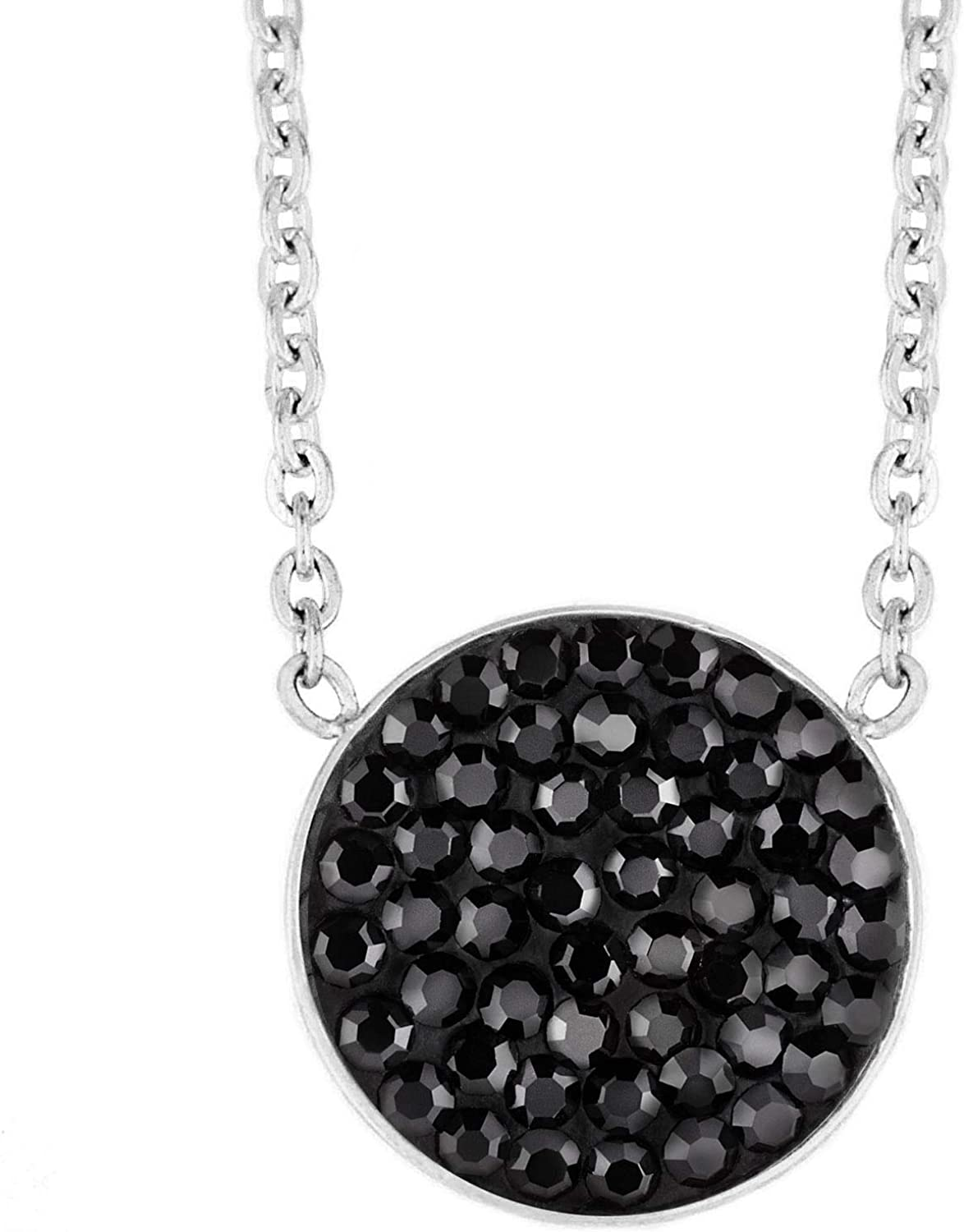 West Coast Jewelry Sterling Silver Cubic Zirconia Pendant and Chain 18 Inch