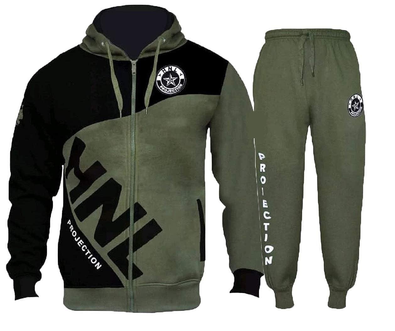 FLIRTY WARDROBE Mens HNL Tracksuit Joggers Hoodie Sweatshirt Pants Sweats Bottoms Plus Size UK