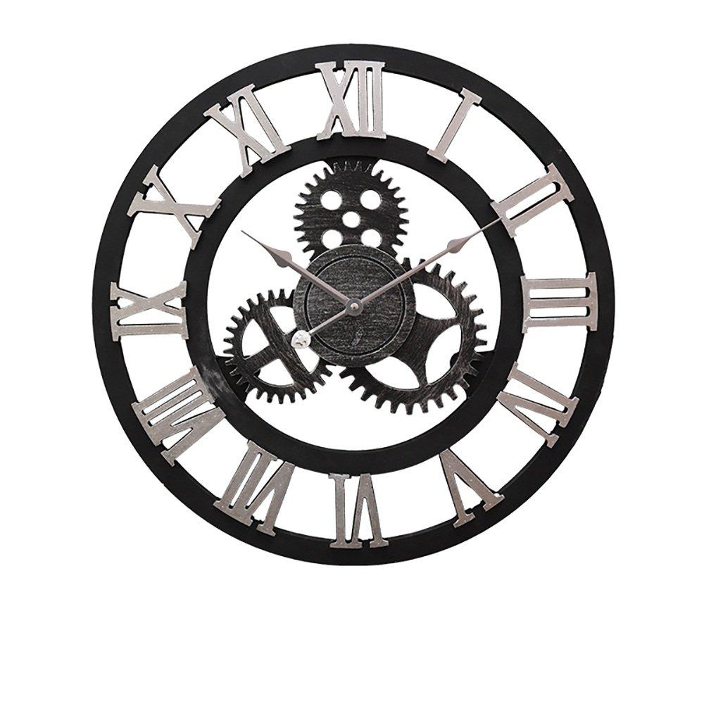 Ornements de mur de bar de 18 pouces rétro horloges industrielles du vent (Couleur : Arab) FT SM