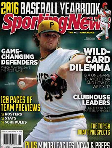Sporting News 2016 Baseball Yearbook (Gerrit Cole,Pittsburgh Pirates Cover) (Pittsburgh Book Cover Pirates)