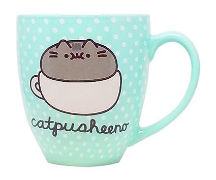 Popular Amazon.com: Pusheen 18 oz Mug - Mint Polka Dot Catpusheeno Mug  AI85