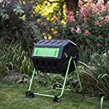 Dual Chamber Tumbling Composter with Wheel Kit