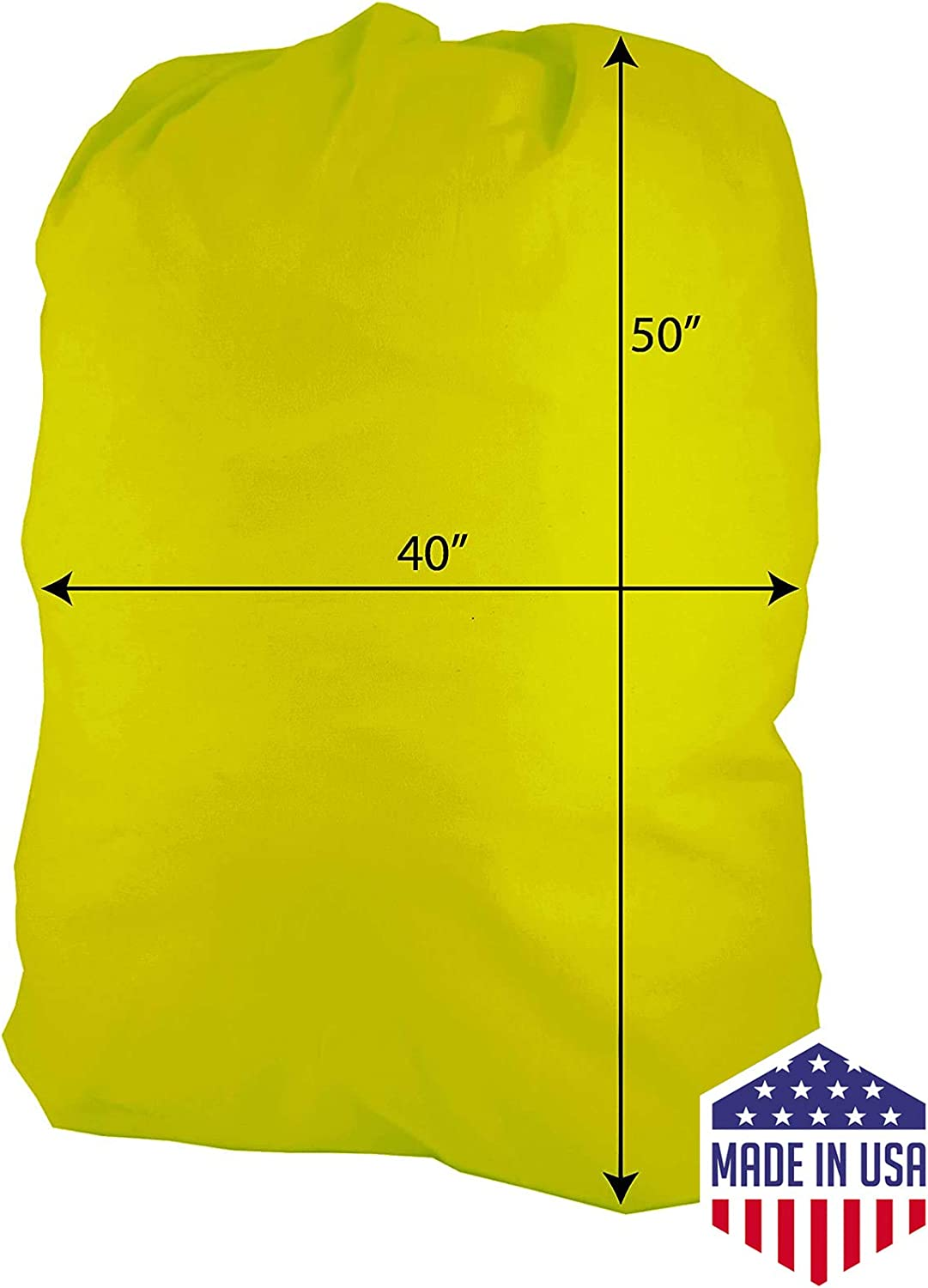 """Huge Heavy Duty Nylon Laundry Storage Bags with Drawstring, Durable, Machine Washable 40' x 50"""" Choose The Color (Yellow)"""