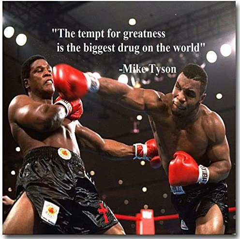 BOXING MIKE TYSON INSPIRATIONAL MOTIVATIONAL  POSTER PRINT