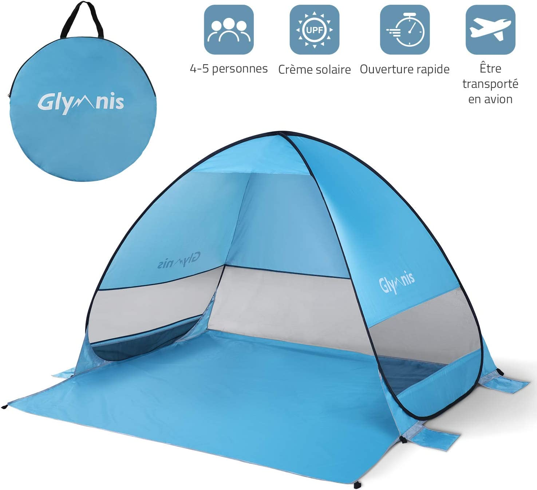 Anti-moustiques Tente de plage portable avec rideau en maille Tente de plage /à ouverture automatique WBTY Tente de plage Pop Up en plein air Pare-soleil pour le camping Anti-UV Portable