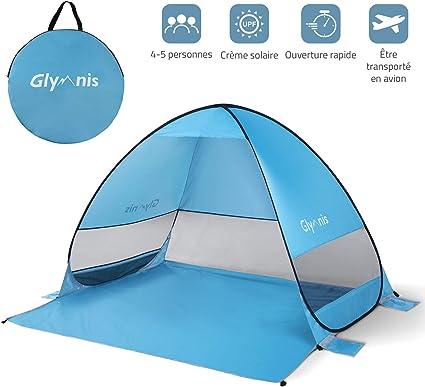 Ultra-l/éger avec Base Extensible Jardin Petit Pack Bessport Tente de Plage pour 2 et 3 Personnes Protection UPF 50+ Tente de Plage de Protection Solaire pour Famille abri de Plage