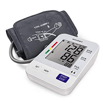 Blood Pressure Monitor, HYLOGY Digital Upper Arm BP Machine Automatic with Large Screen Display and