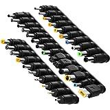 aceyoon 34種 DCジャック ノートパソコン 電源アダプタ 変換用 外径 / 内径 5.5mm / 2.1mm 汎用 DC アダプタ 変換 DCプラグ 変換アダプター ノートPC 充電用 変換コネクタ for ソニー 東芝 HP Dell レノボ Samsung ASUS Acer等対応 電源プラグ