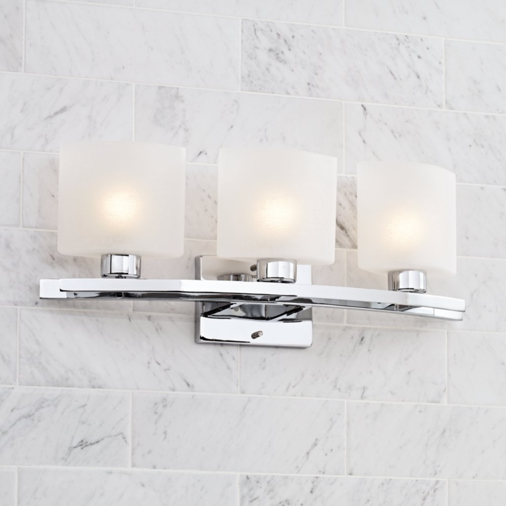 Possini bathroom lighting - Possini Euro Design 23 1 2 Wide Linen Glass Bath Light Lighting Products Amazon Com
