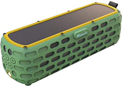 CYBORIS Portable Bluetooth Speaker Solar Powered Amplifier 10+ Hours  Playtime HiFi Bass Stereo Sound Rugged Wireless Outdoor Speakers for  Travel,