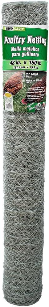 YARDGARD 308496B Fence, 150 feet, Silver