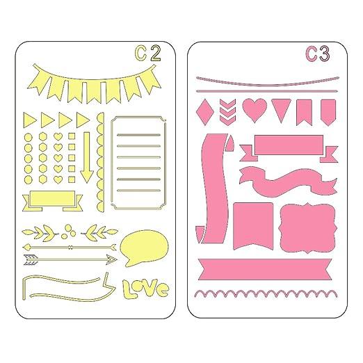 ... con cifras y letras, con hojas de árbol en flor; reutilizable material flexible, para Scrapbooking, tarjeta de cumpleaños, decoración mural: Amazon.es: ...