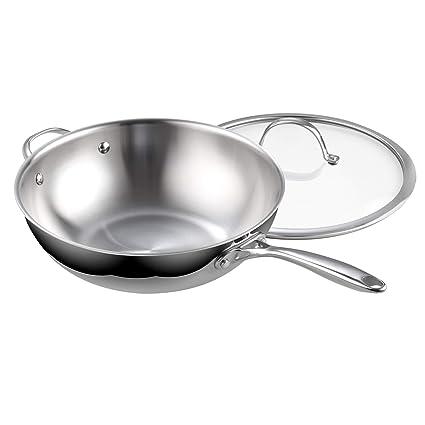 Amazoncom Cooks Standard 02595 Clad Stainless Steel Stir Fry Pan