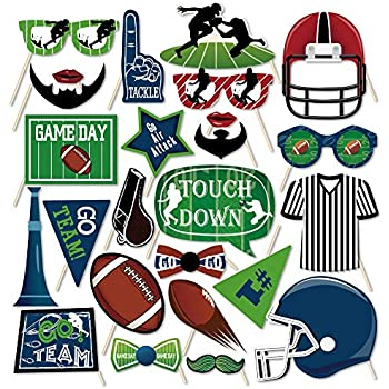 Amazon.com: CC Home American Football Photo Booth Props 25 ...