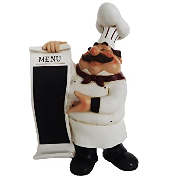 Superieur Kitchen Fat Chef Statue Menu Chalkboard Restaurant Home D64289