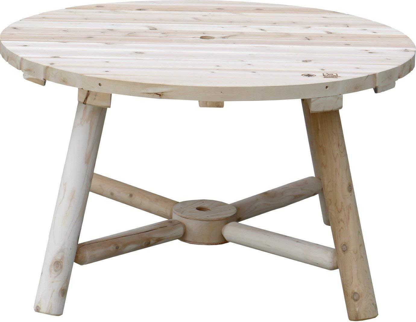 アウトドアテーブル ガーデニング 屋外 テーブル キャンプ パラソル穴 ラウンドテーブル B07G2YY4JV  ラウンドテーブル