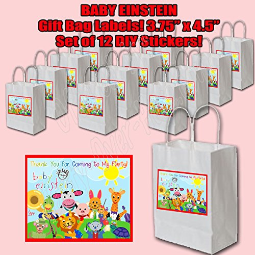 Baby Einstein Sticker Labels Party Favors Supplies Decorations Gift Bag Label STICKERS ONLY 3.75