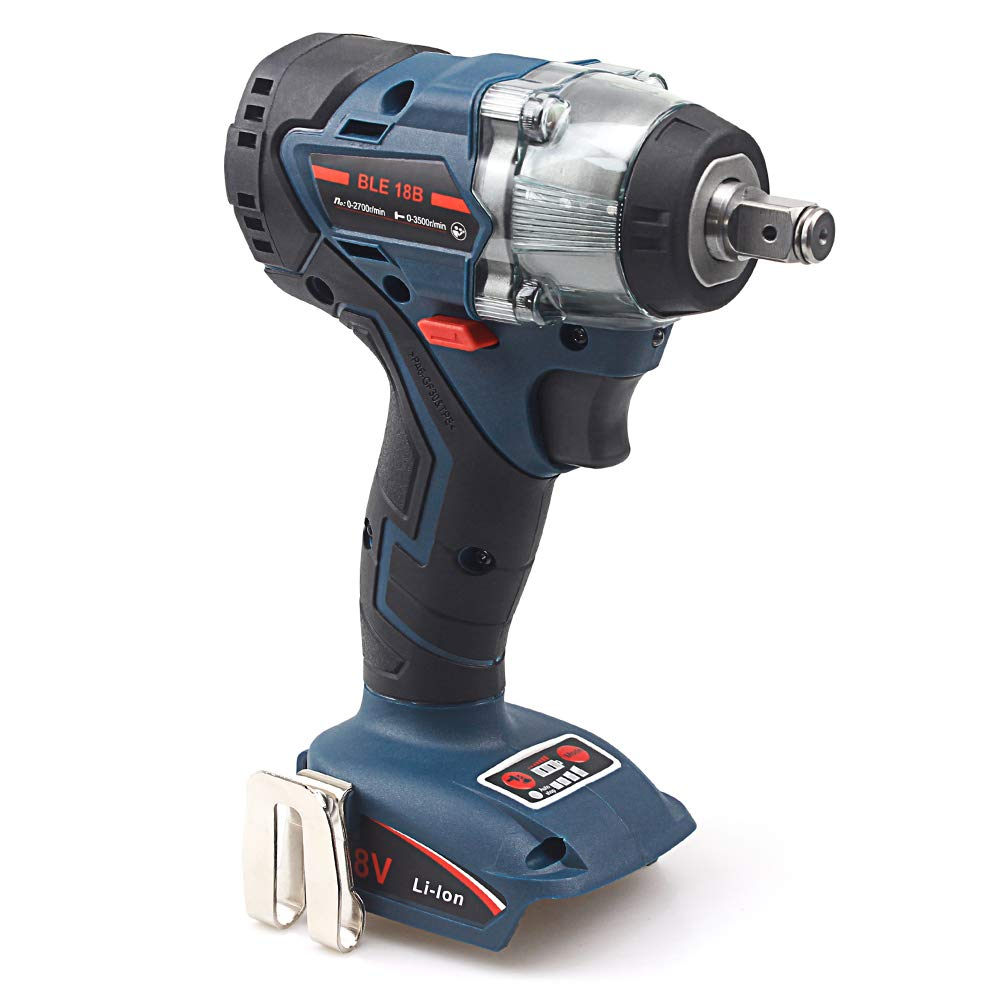 18V AOYAN Brushless Cordless Impact Wrench 4-Speed 1 2 Sq. Drive Wrench Compatible with Makita 18V Lithium-Ion Battery, Tool Only
