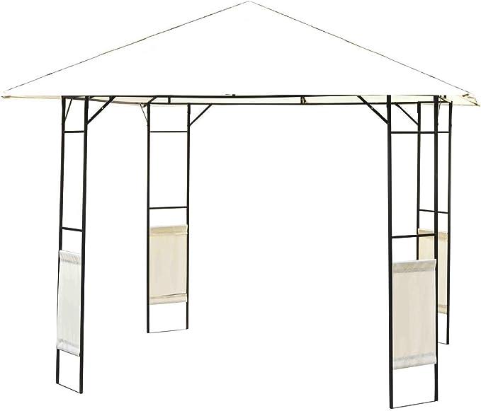 Outsunny – Carpa de jardín Pérgola de jardín de Metal 3 x 3 m ...