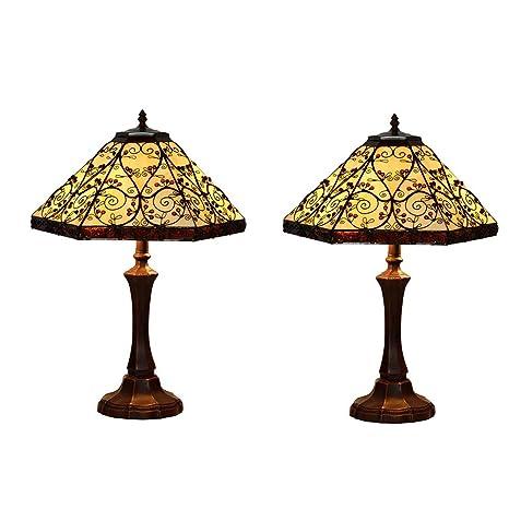 DEPAOSHJ Interior Retro Cobre Salón Lámpara de mesa ...