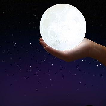 Amazon.com: TDC Luz Nocturna Noche de Luna 3d led luz de la ...