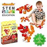 Click-A-Brick Dino Pals 30pc Building Blocks Set | Best STEM Toys for Boys & Girls Age 4 5 6 Year Old | Fun Kids 3D Construction Puzzle | Top Educational Learning Gift For Children Ages 4-10