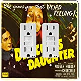 Rikki Knight 3707 Gfidouble Vintage Movie Posters Art Dracula's Daughter Design Light Switch Plate