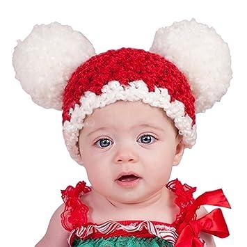 Zoylink Sombrero De Navidad para Bebés Lindo Sombrero De Gorrita Tejida  Sombrero De Punto De Lana De Moda con Pom Pom  Amazon.es  Deportes y aire  libre aab249eab93