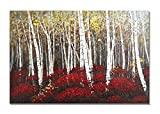 UAC WALL ARTS Watercolor Woods Hand Painted Canvas Wall Art for Home Wall Decor