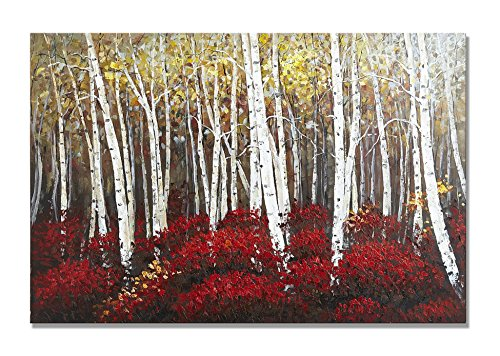 UAC WALL ARTS Watercolor Woods Hand Painted Canvas Wall Art for Home Wall Decor by UAC WALL ARTS (Image #7)