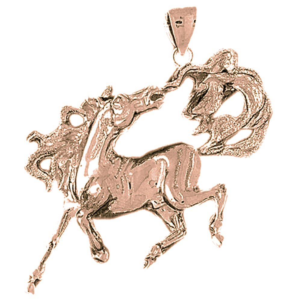 Rhodium-plated 925 Silver Horse Pendant with 18 Necklace Jewels Obsession Silver Horse Necklace