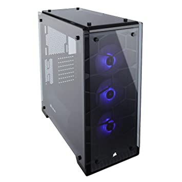 43d068bc7e5 Corsair CC-9011098-WW 3 x 120 mm Crystal Series 570X RGB Mid Tower Computer  Chassis - Black: Amazon.co.uk: Computers & Accessories