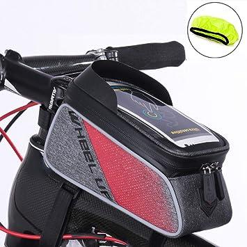 Amazon.com: Mozowo - Bolsa para marco de bicicleta, soporte ...