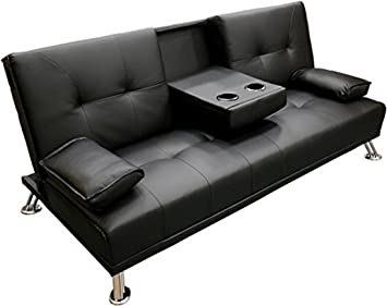 Miraculous Humza Amani Cinema Style Cup Holder Sofa Bed Faux Leather Black Squirreltailoven Fun Painted Chair Ideas Images Squirreltailovenorg