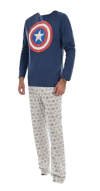 Marvel Herren Schlafanzug Marineblau