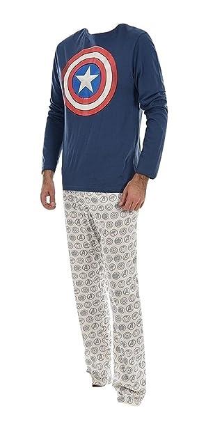 Marvel - Pijama - para Hombre Azul Marino S