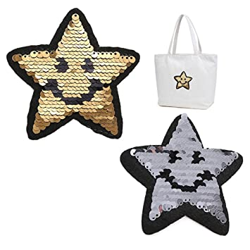 Coat Sweater Clothes Embroidered Paillette Applique Sew on Star Sequins Patch