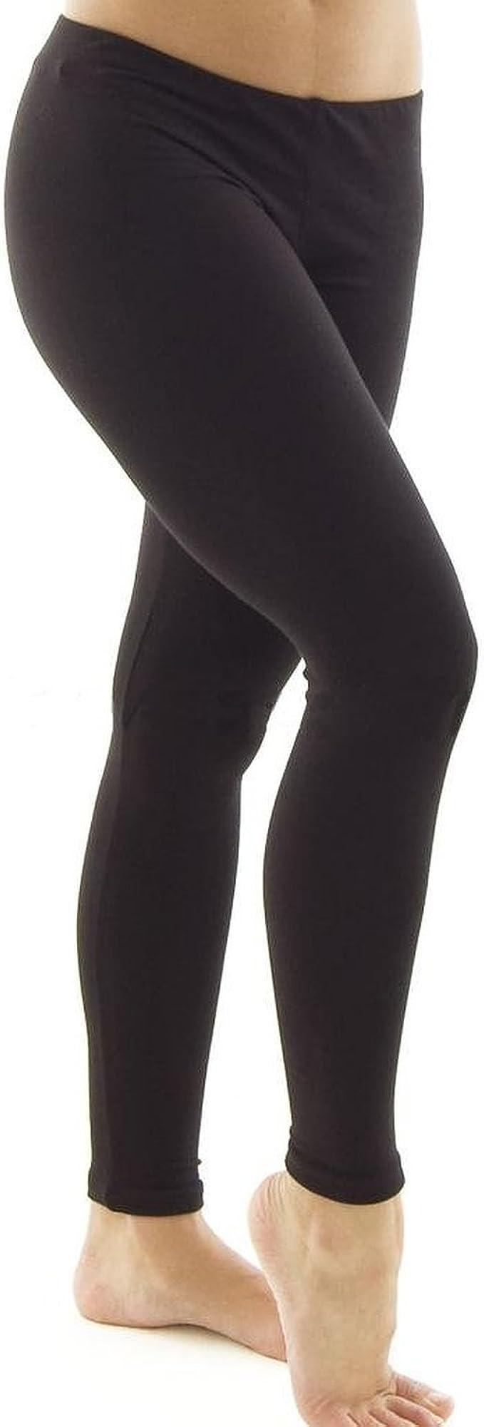 Silky Black Footless Ballet Tights